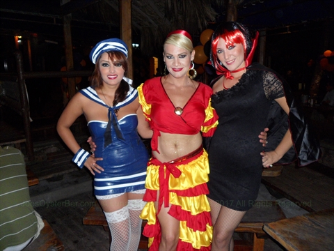 Halloween at Joe's Oyster Bar in Mazatlán, Sinaloa, Mexico