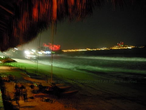 view of Mazatlán bay from Joe's Oyster Bar in Mazatlán, Sinaloa, Mexico